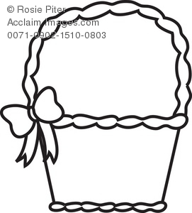 271x300 Easter Basket Coloring Page Royalty Free Clip Art Picture