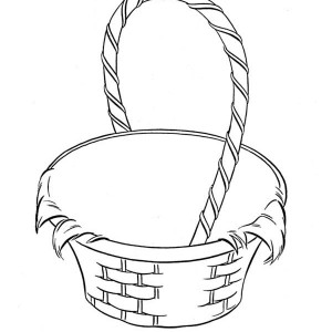 300x300 Easter Basket Coloring Page For Kids Batch Coloring