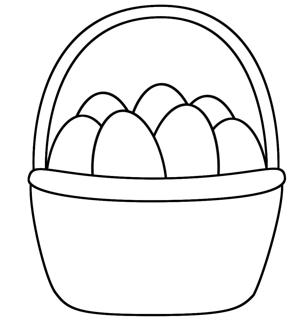 1070x1120 Easter Egg Basket Coloring Pages Wagashiya