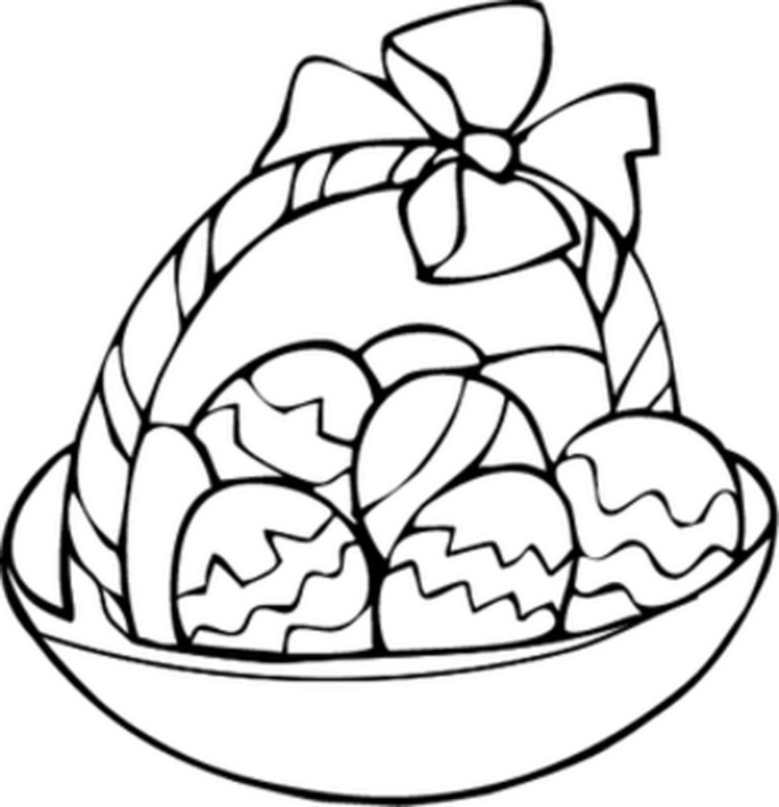 869x900 Egg Basket Coloring Page The Wayne Stater