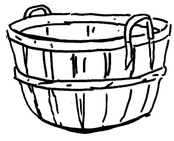 600x485 Apple Basket Coloring Page An Empty Apple Basket Coloring Pages
