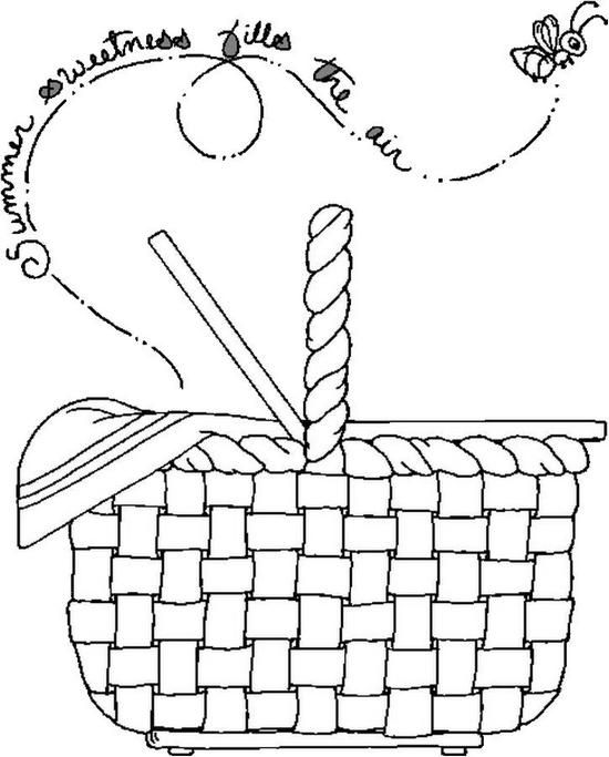 550x683 Picnic Basket Coloring Page Coloring Pages Picnic