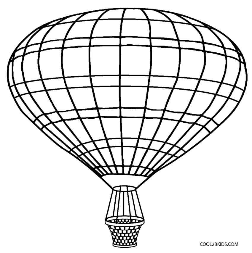 850x855 Printable Hot Air Balloon Coloring Pages For Kids