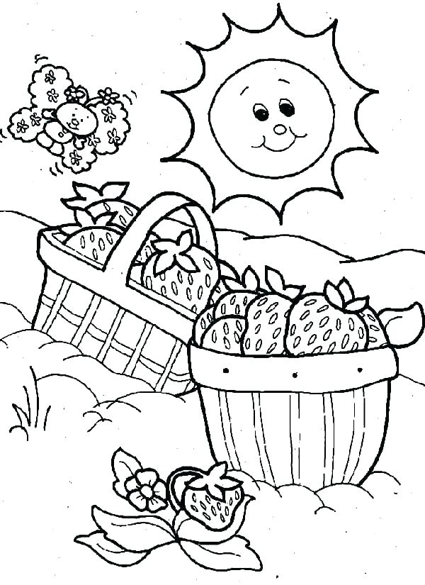 600x825 Flower Basket Coloring Pages