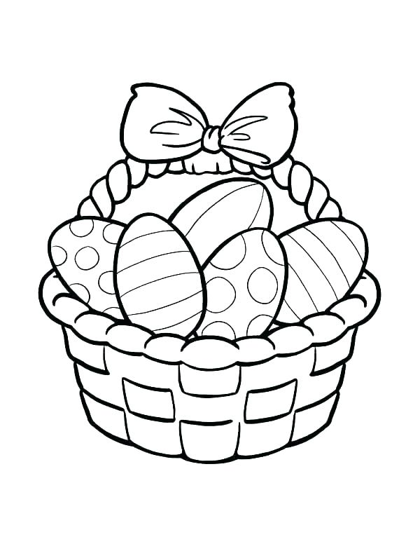 600x776 Basket Coloring Page Empty Basket Coloring Pages Printable