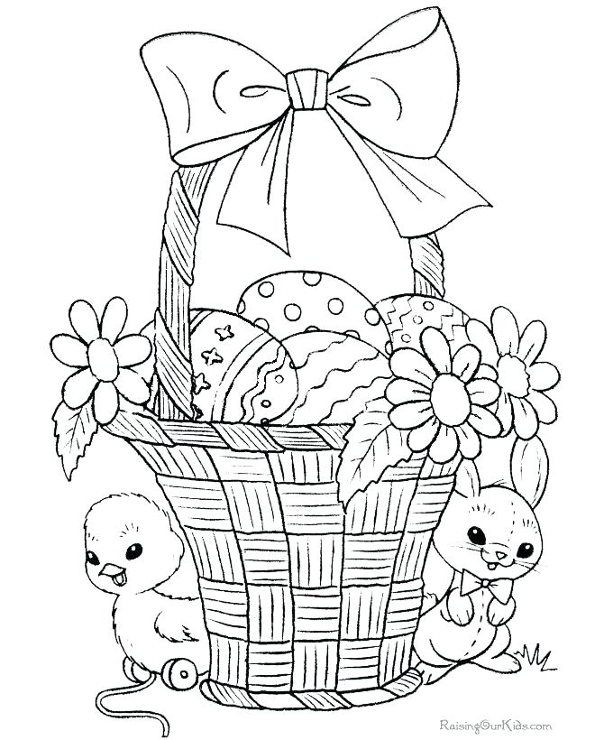 670x820 Easter Basket Coloring Sheet Basket Coloring Pages Empty Easter