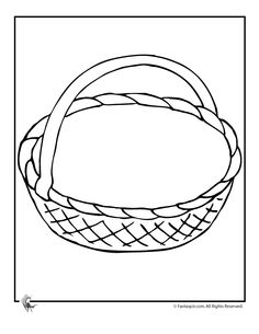 236x305 Empty Easter Basket Coloring Page Happy Easter