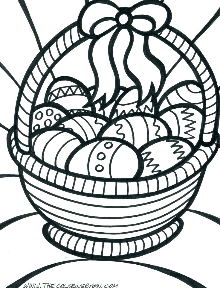 736x962 Flower Basket Coloring Pages Printable Coloring Basket Coloring