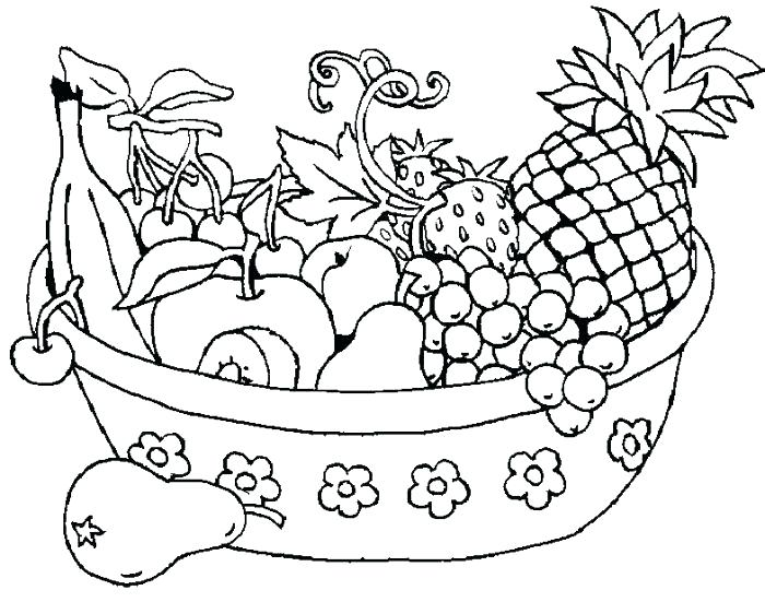 700x551 Fruits Coloring Pages Fruits Coloring Page Picture Of Fruit Basket