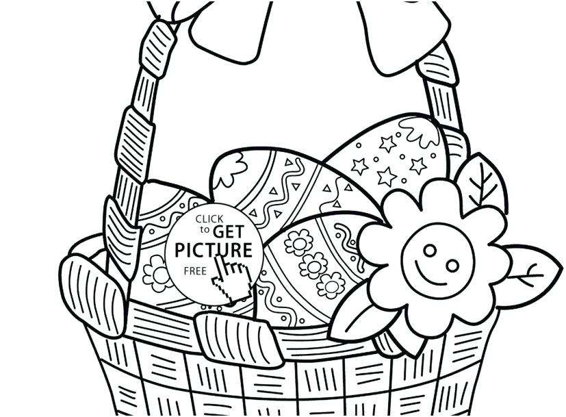827x609 Easter Basket Coloring Pages Icontent