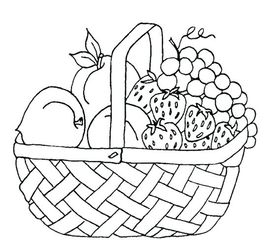 540x502 Basket Coloring Pages S Fruit Basket Coloring Pages Printable