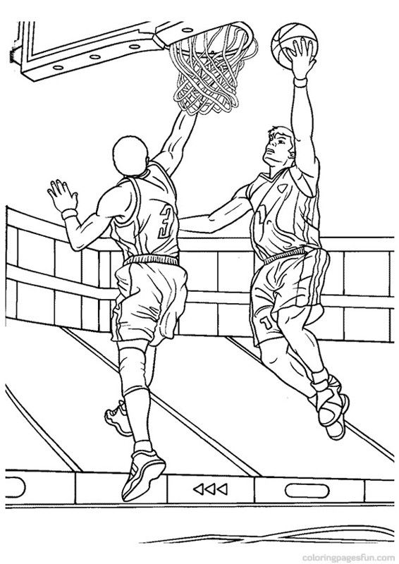 566x800 Basketball Coloring Pages Places To Visit Color