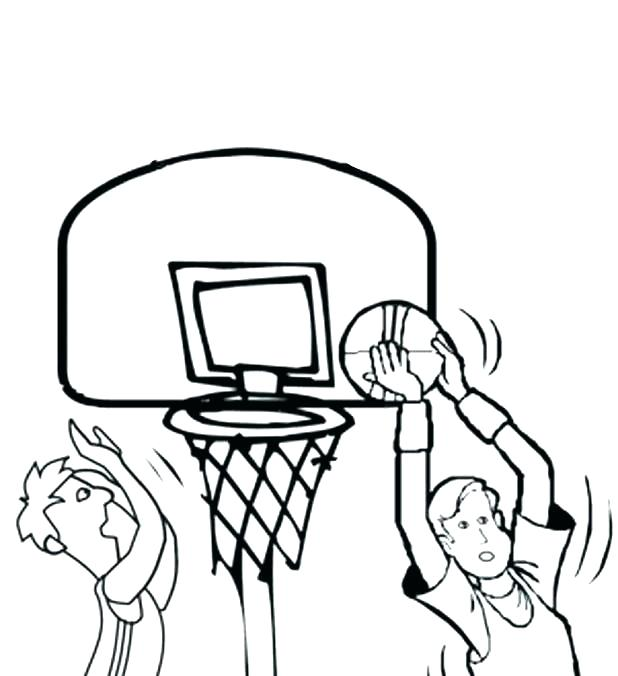 618x676 Basketball Coloring Pages Free March Madness Basketball Coloring