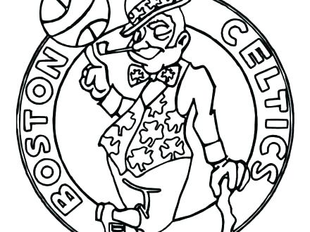 440x330 Basketball Court Coloring Page