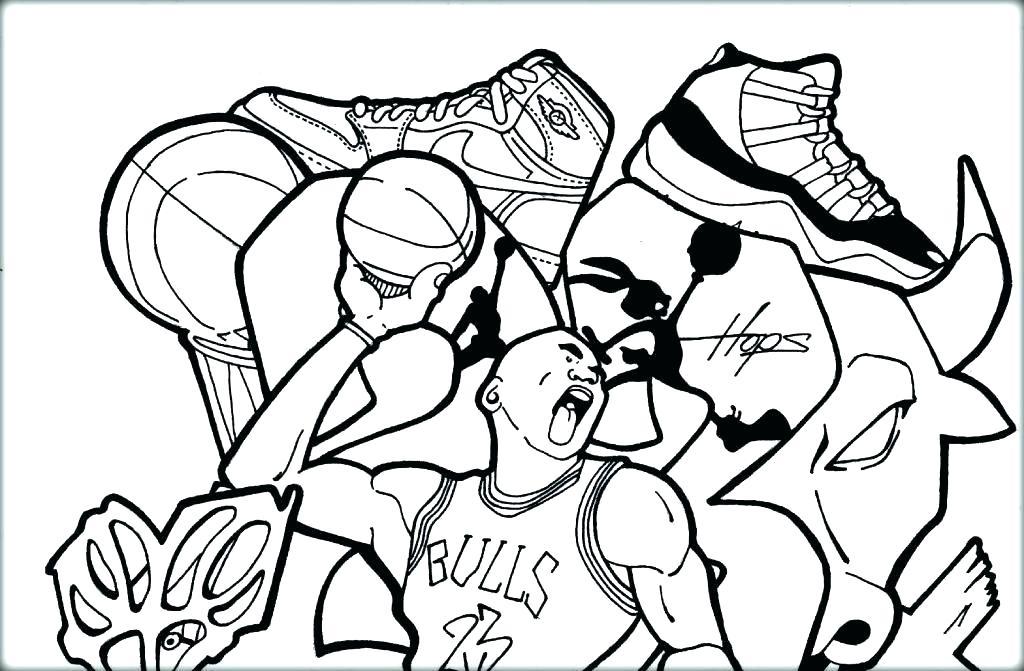 1024x671 Basketball Color Page Basketball Coloring Pages Nba Basketball