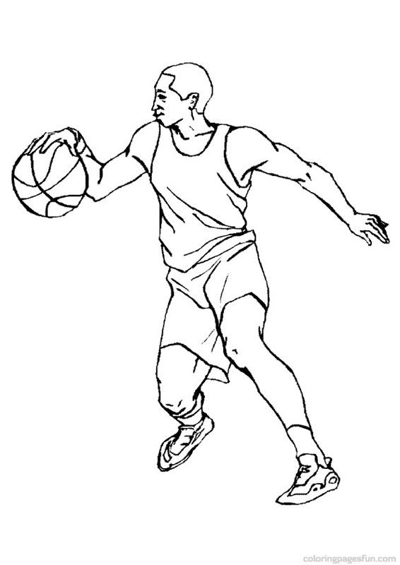 566x800 Basketball Coloring Pages Printable