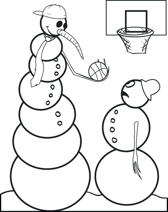 556x700 Basketball Coloring Pages Printable