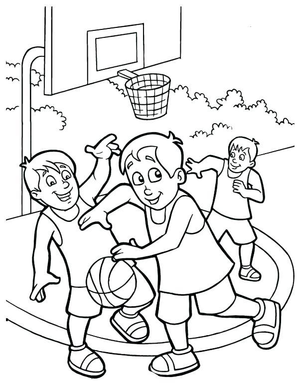 600x786 Basketball Color Page Free Printable Snowman Playing Basketball