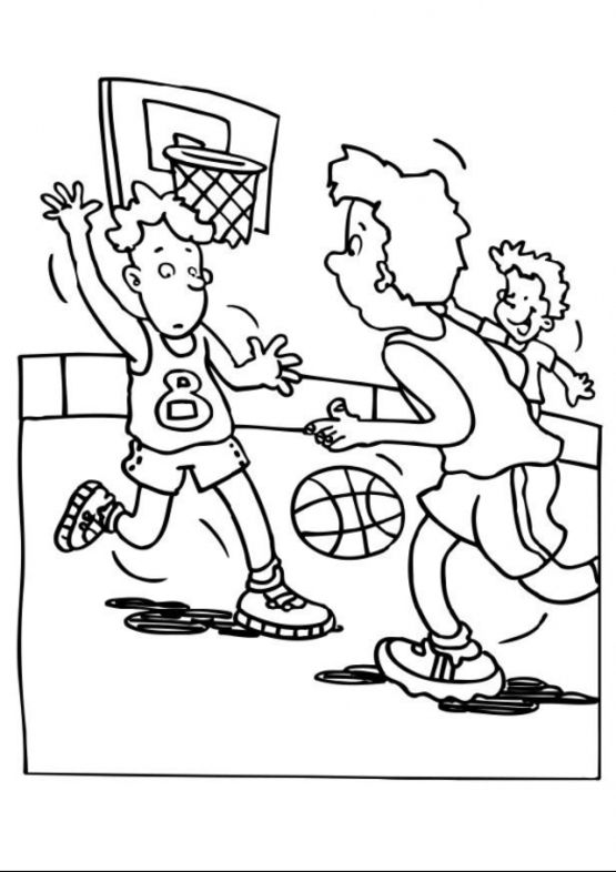 555x786 Basketball Coloring Pages