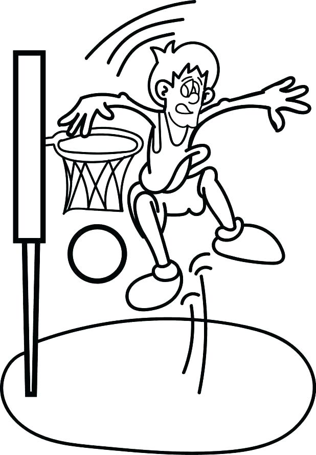 618x889 Coloring Pages Basketball Coloring Pages Nba Basketball Players