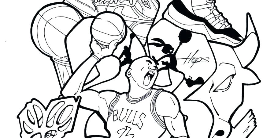 860x450 Excellent Ideas Basketball Coloring Sheets Nba Book And Players