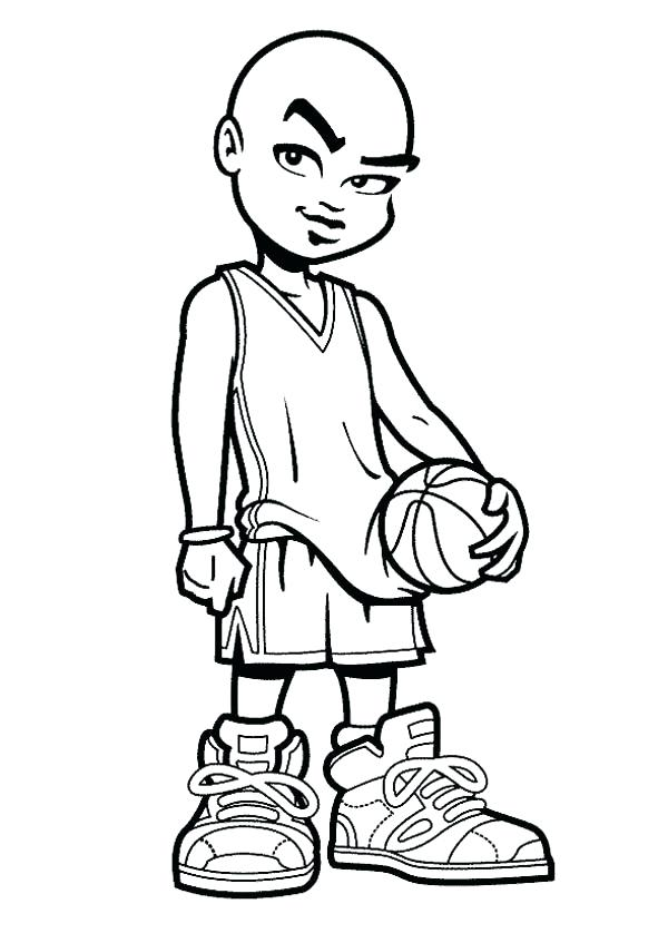 600x847 Nba Players Coloring Pages Basketball Coloring Page For Kids