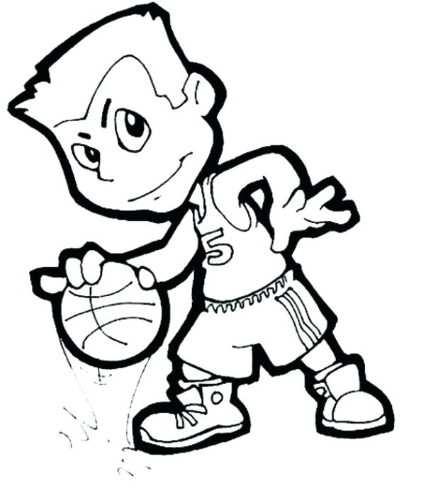 618x689 Nba Players Coloring Pages Basketball Coloring Pages For Boys