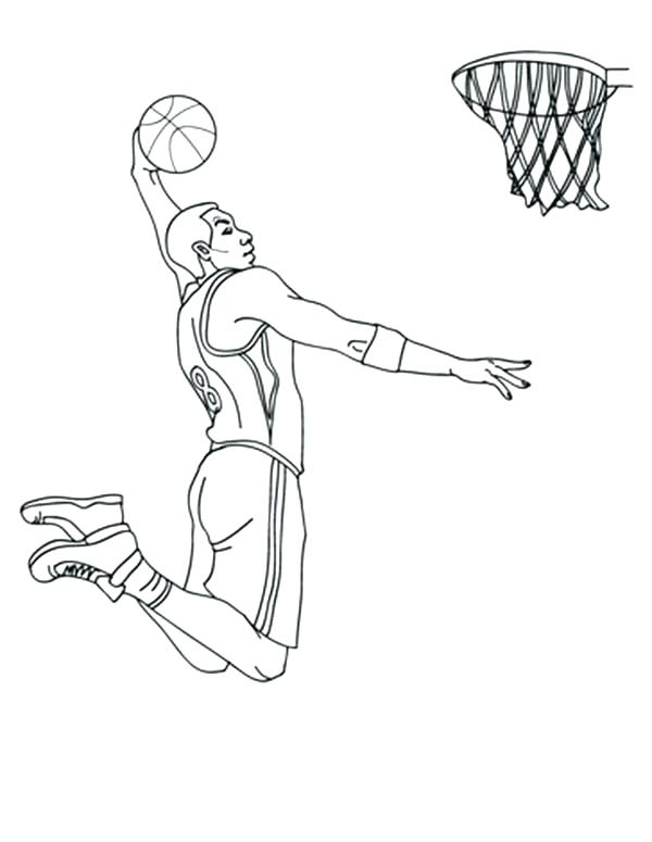 600x775 Nba Players Coloring Pages Basketball Coloring Pages Free