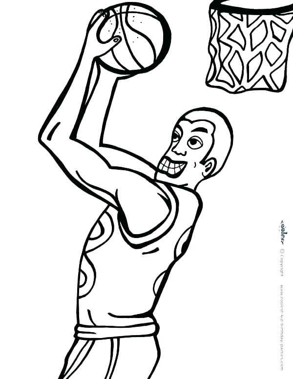 600x777 Nba Players Coloring Pages Basketball Coloring Sheets Together Nba