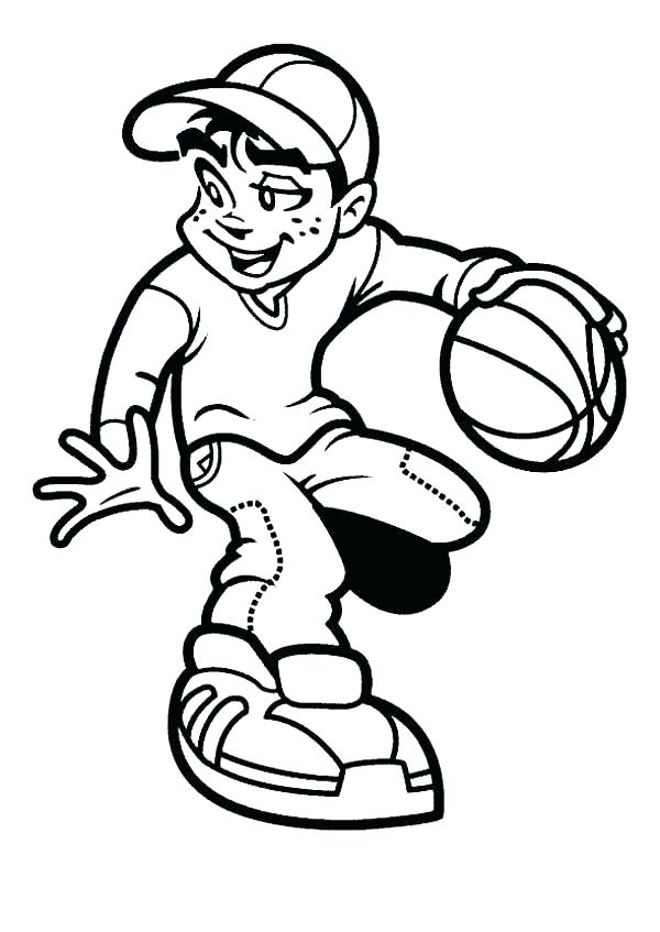 600x847 Basketball Coloring Page Players Coloring Pages Basketball Players