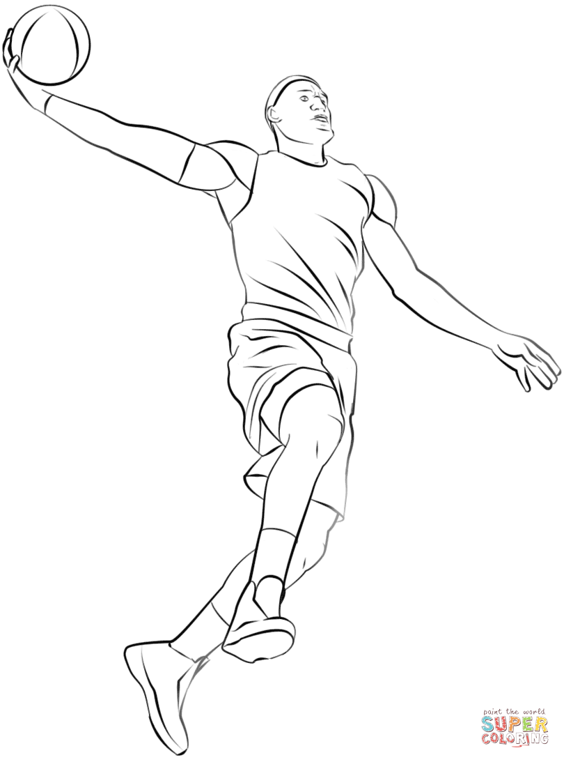 810x1093 Basketball Player Coloring Page Free Printable Pages Simple
