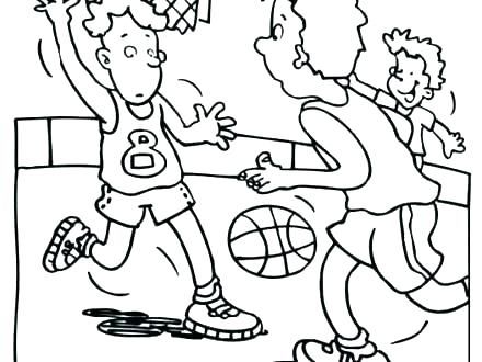 440x330 Basketball Color Pages Basketball Coloring Pages Curry Basketball