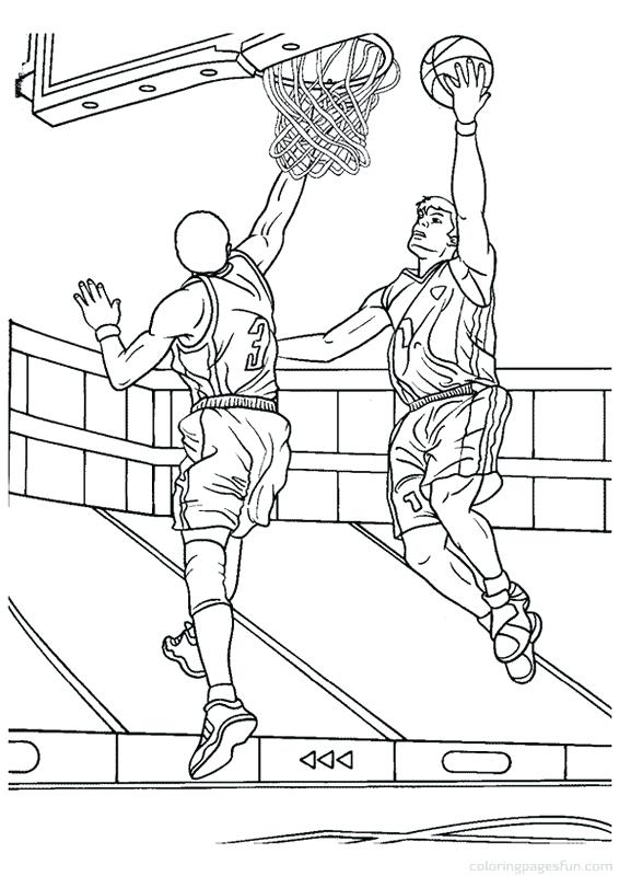 566x800 Basketball Coloring Pages Printable Free Basketball Coloring Pages
