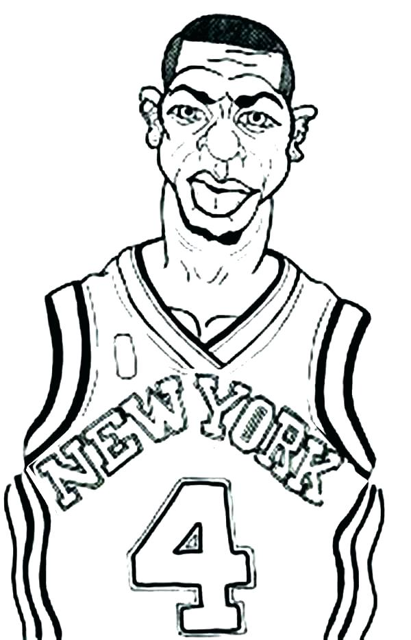 600x933 Basketball Pictures To Color Basketball Color Pages Coloring Page