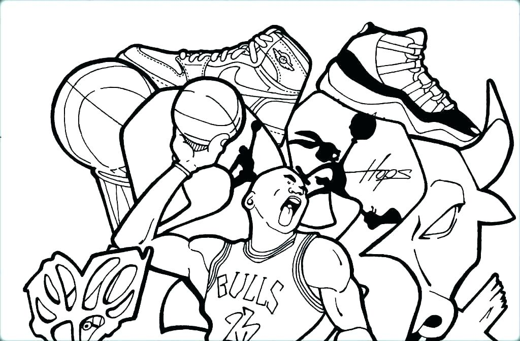 1024x671 Basketball Pictures To Color Basketball Color Pages Free Coloring