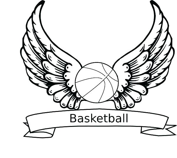 600x538 Nba Basketball Coloring Pages Basketball Coloring Pages Free
