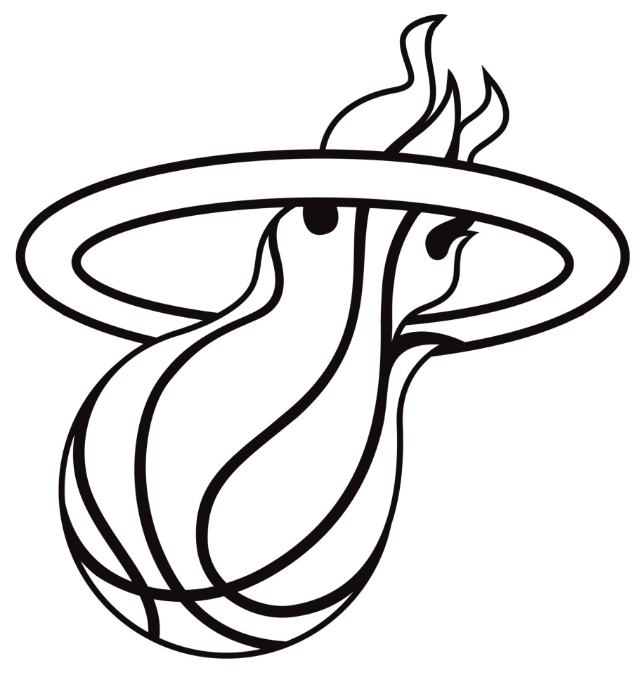 915x960 Nba Coloring Pages Phoenix Suns Miami Heat And Logo General Free