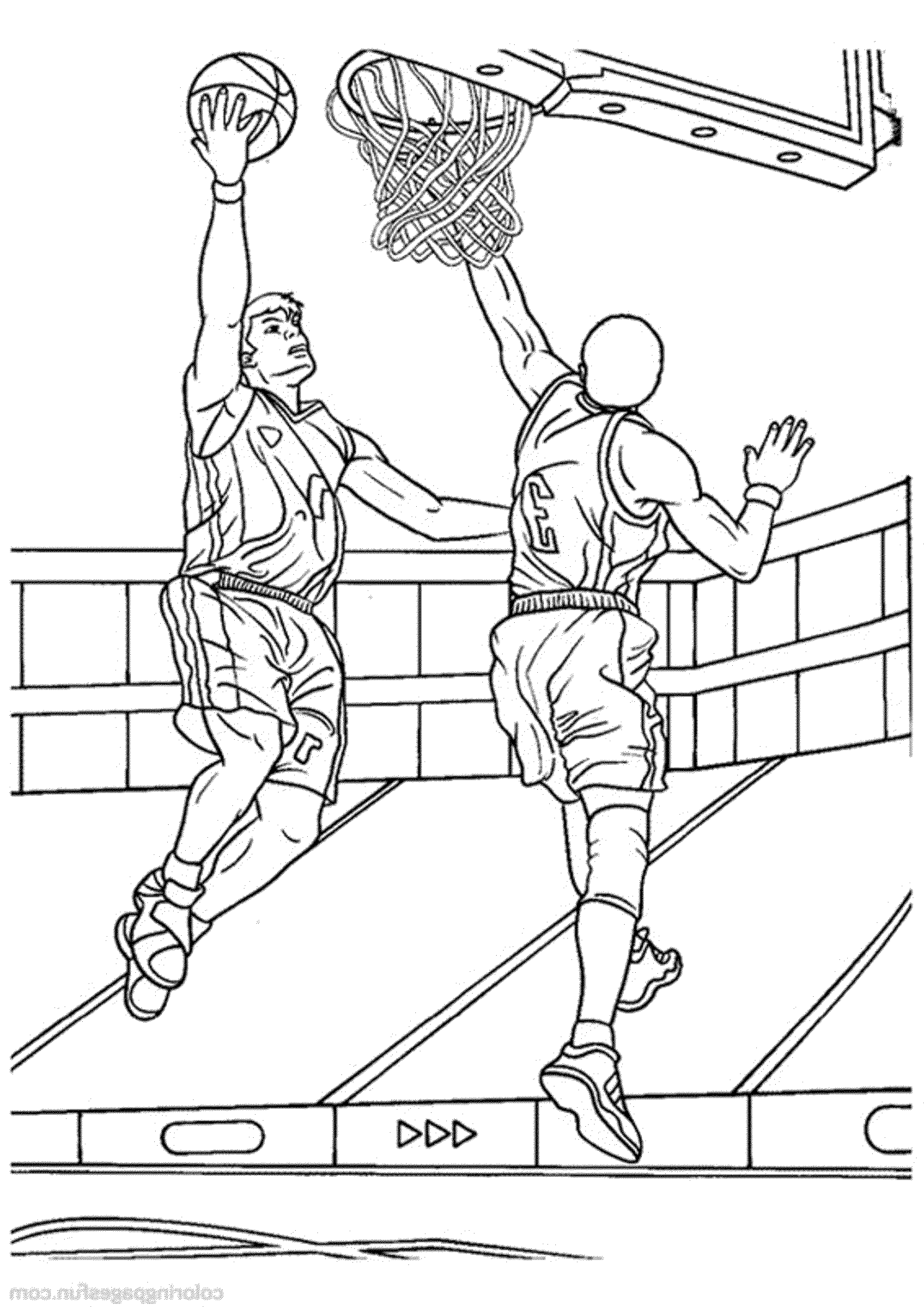 2000x2827 Simplistic College Basketball Coloring Pages Print Download