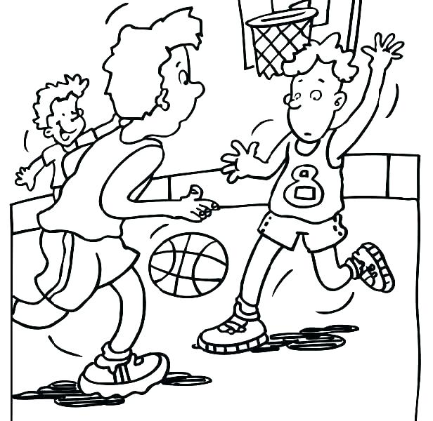 616x600 Basketball Color Pages