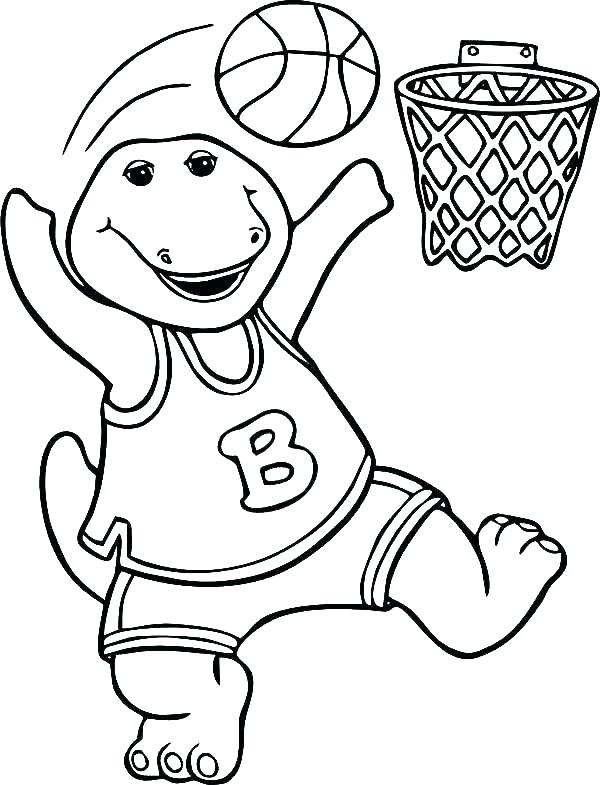 600x785 Basketball Color Page Basketball Court Coloring Page Logo Team