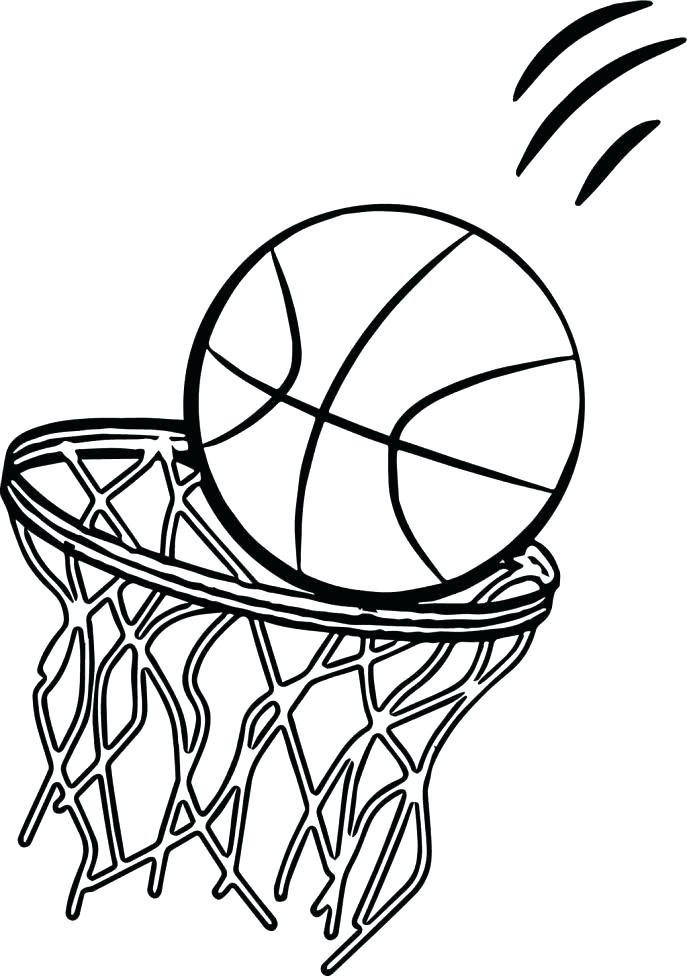 687x976 Basketball Court Coloring Page Basketball Court Coloring Page