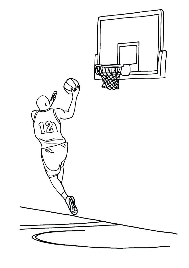 736x1040 Basketball Player Coloring Pages Basketball Court Coloring Page