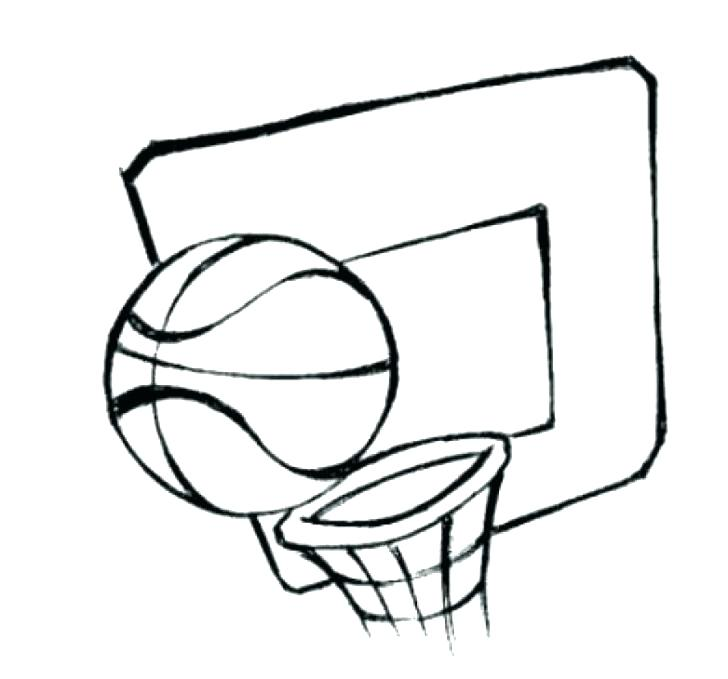 728x679 Printable Basketball Coloring Pages Coloring Pages Collection