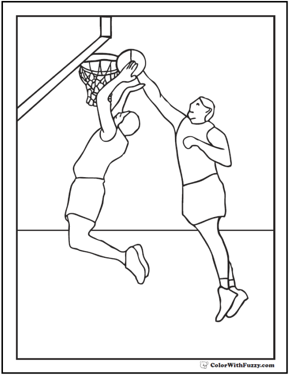 590x762 Basketball Coloring Pages Customize And Print Pdfs