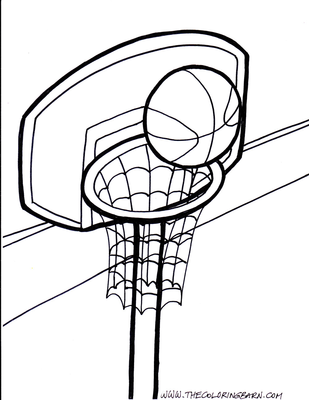 1000x1294 Basketball Hoop Coloring Pages