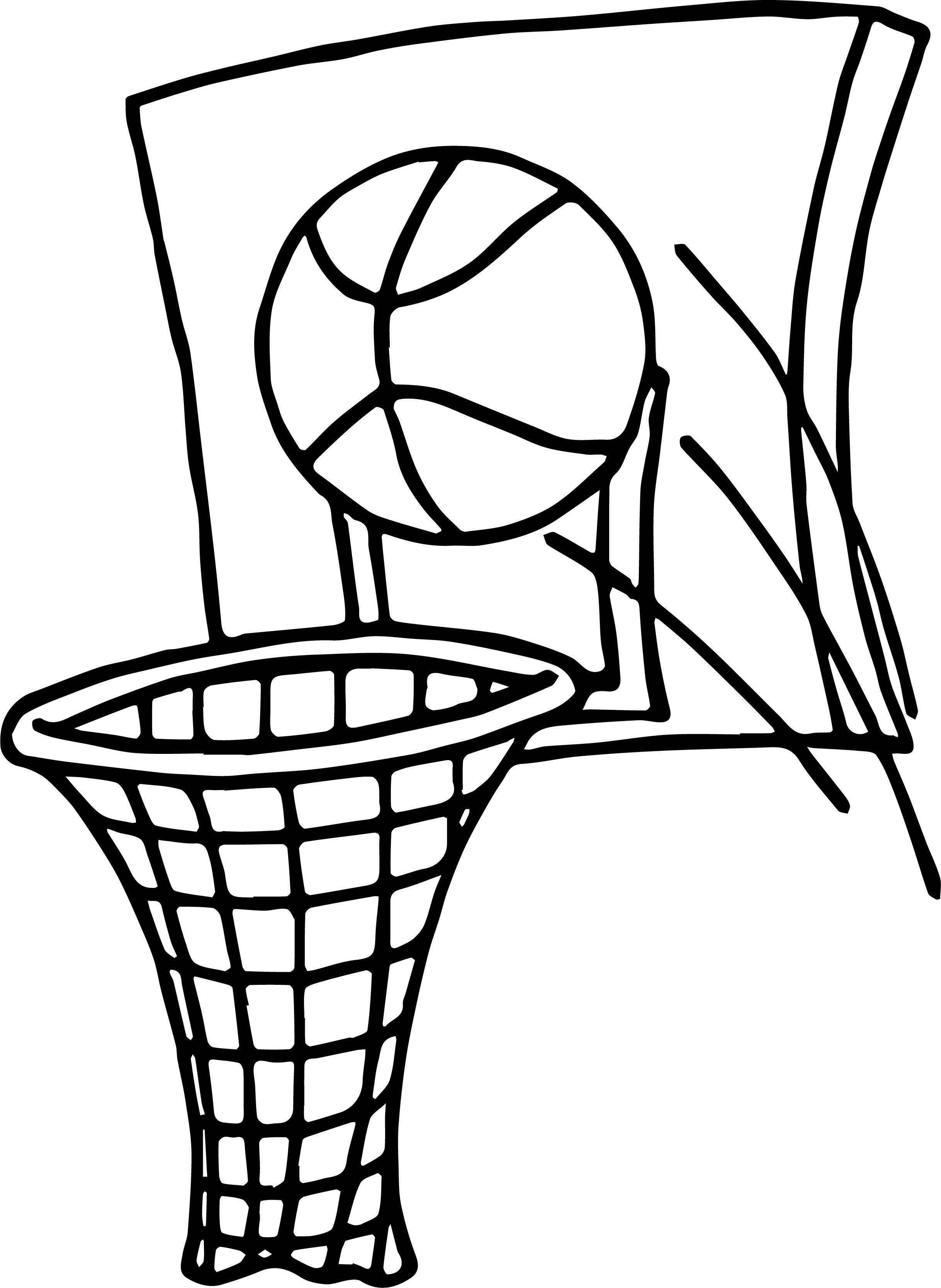 2436x3335 Basketball Goal Coloring Sheet Coloring Sheets