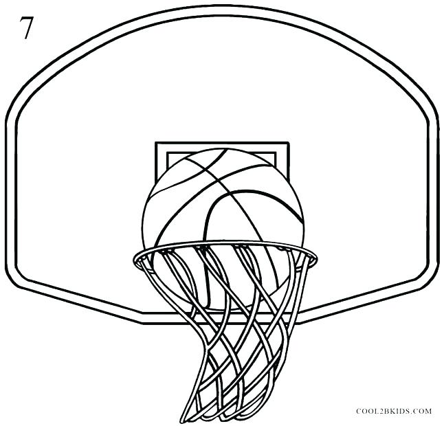 646x620 Basketball Hoop Coloring Page Basketball Coloring Pages