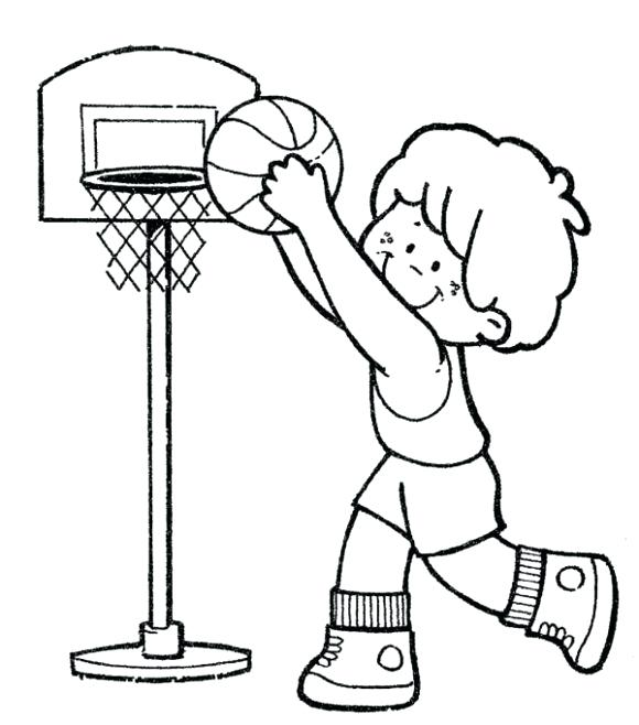 580x658 Basketball Making The Hoop Coloring Page Hoops Coloring Pages Boys
