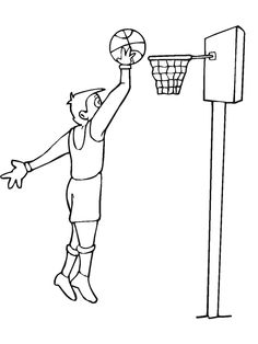 236x314 Basketball Player Coloring Page Worksheets And Clip Art