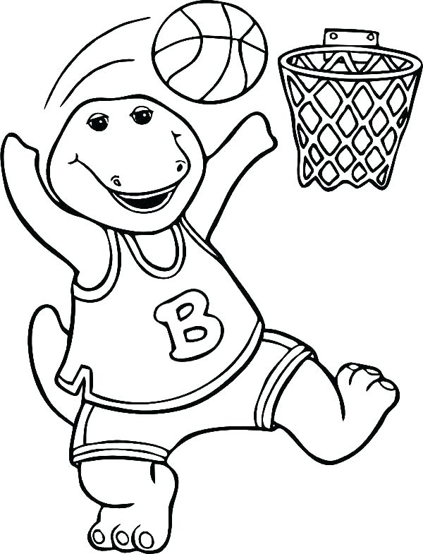 600x785 Coloring Pages Basketball